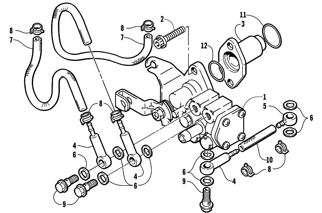 Parts Diagram for Arctic Cat 2004 PANTERA 800 EFI SNOWMOBILE OIL PUMP